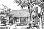 Ranch House Plan Front Image of House - 007D-0104 | House Plans and More