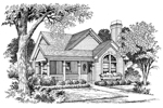 Vacation Home Plan Front Image of House - 007D-0105 | House Plans and More
