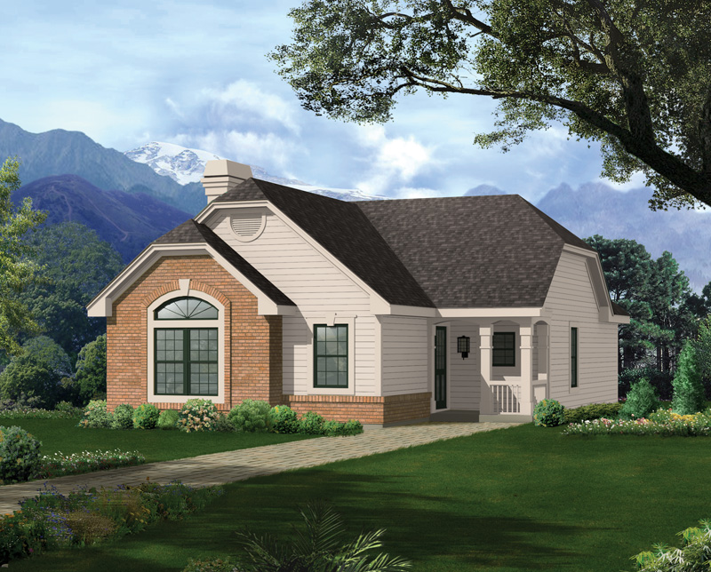 Vacation Home Plan Front of Home 007D-0106
