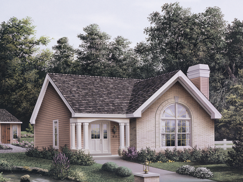 Vacation Home Plan Front of Home 007D-0107