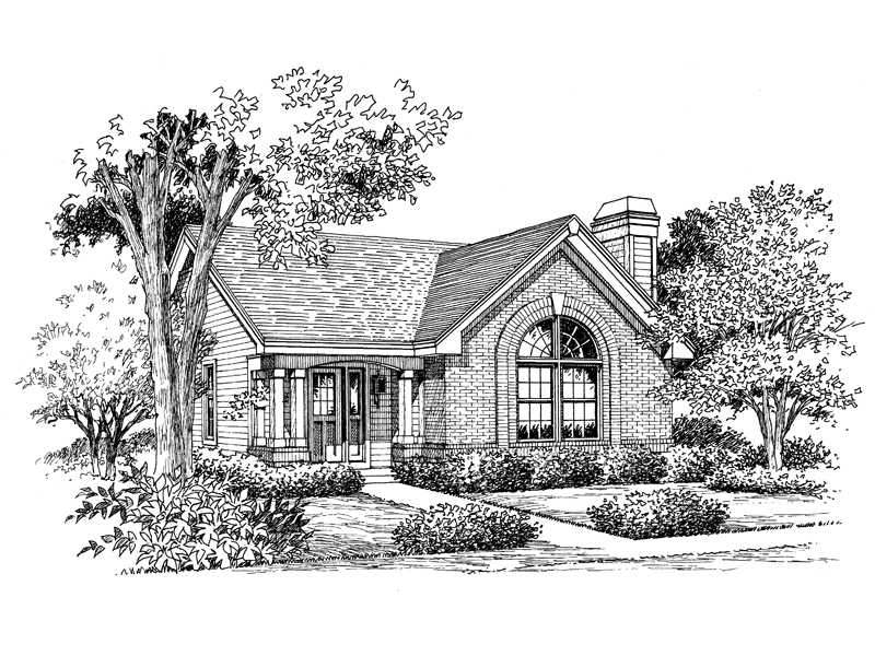 Arts and Crafts House Plan Front Image of House 007D-0107