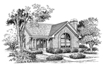Cabin and Cottage Plan Front Image of House - 007D-0107 | House Plans and More