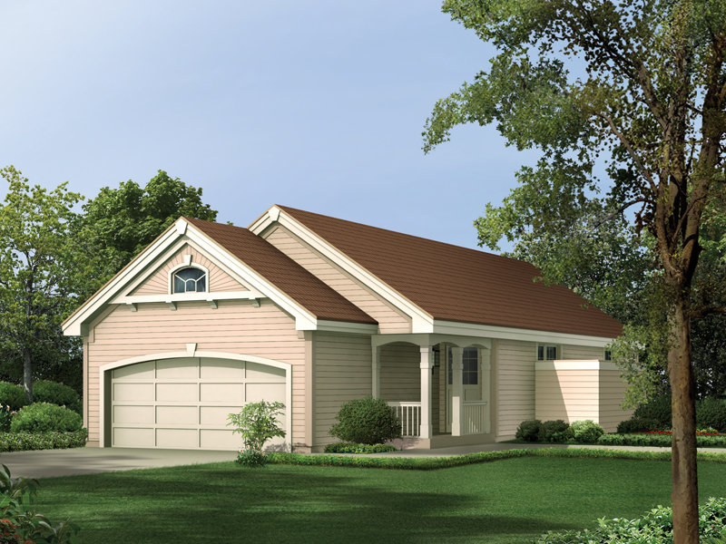 Ranch House Plan Front of Home 007D-0108