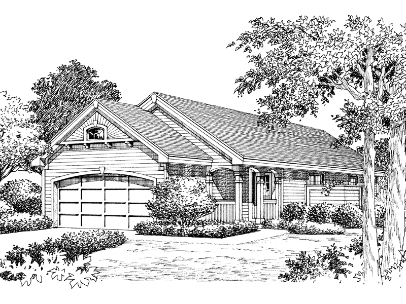 Traditional House Plan Front Image of House 007D-0108