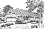 Cabin and Cottage Plan Front Image of House - 007D-0108 | House Plans and More