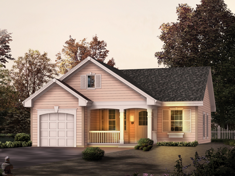 Cabin and Cottage Plan Front of Home 007D-0109