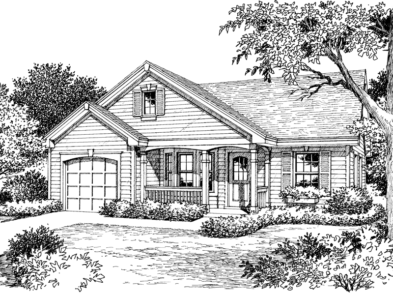 Cabin & Cottage House Plan Front Image of House - 007D-0109 | House Plans and More