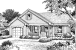 Cabin and Cottage Plan Front Image of House - 007D-0109 | House Plans and More