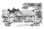 Traditional House Plan Front Image of House - 007D-0110 | House Plans and More