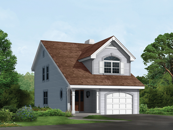 Bayshore lake home plan 007d 0111 house plans and more for Narrow lot house plans with front garage