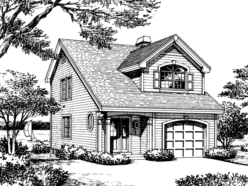 Vacation Home Plan Front Image of House - 007D-0111 | House Plans and More