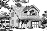 Cabin and Cottage Plan Front Image of House - 007D-0111 | House Plans and More