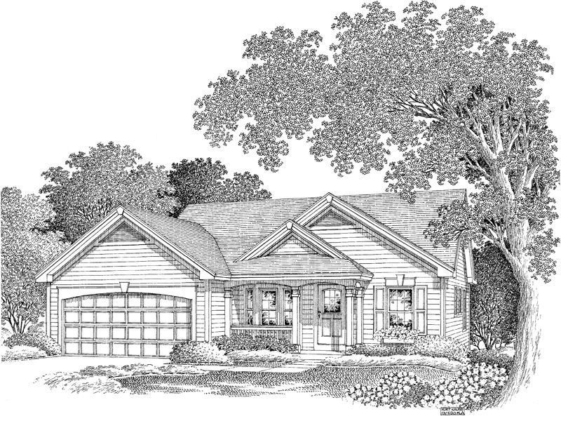 Vacation Home Plan Front Image of House - 007D-0112 | House Plans and More