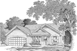 Ranch House Plan Front Image of House - 007D-0112 | House Plans and More
