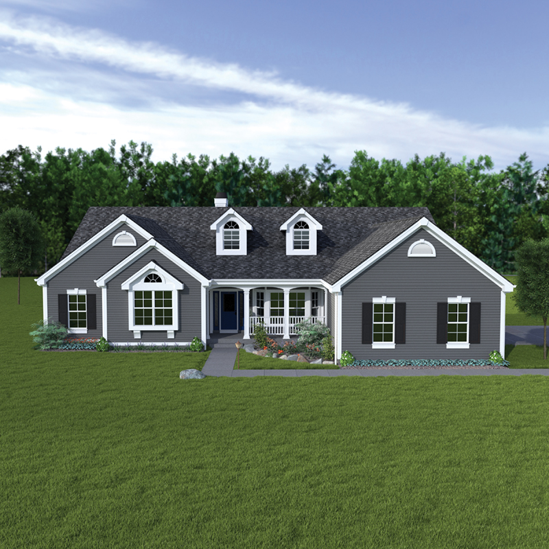 Cape Cod and New England Plan Front of Home 007D-0113