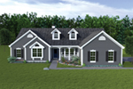 Gabled Ranch Home With Decorative Dormers