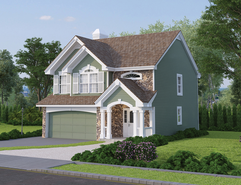 Traditional House Plan Front of Home 007D-0114