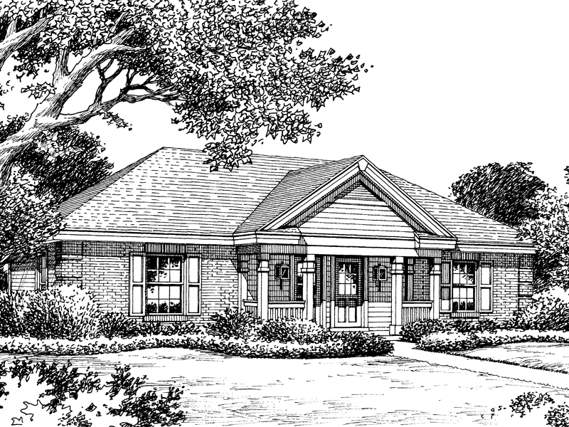 Cabin & Cottage House Plan Front Image of House - 007D-0115 | House Plans and More