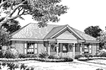 Ranch House Plan Front Image of House - 007D-0115 | House Plans and More