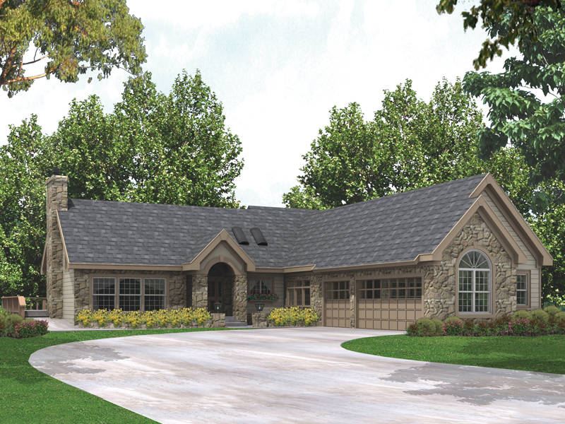 Ranch House Plan Front of Home 007D-0116