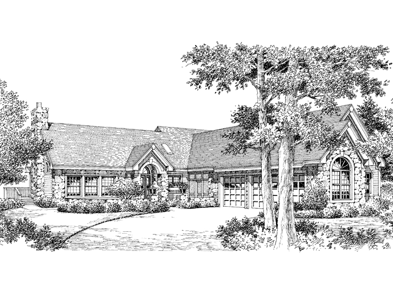 Ranch House Plan Front Image of House 007D-0116