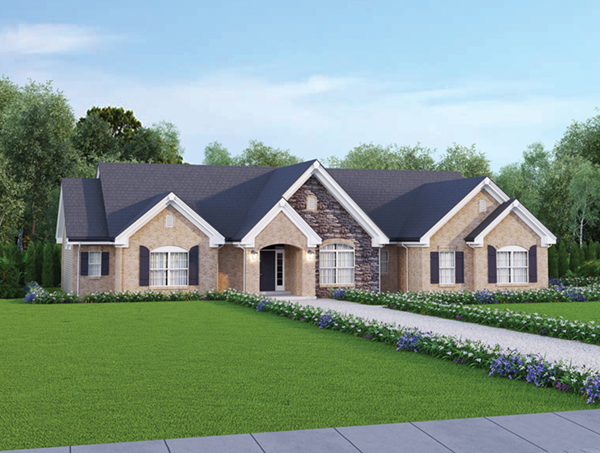 Le chateau one story home plan 007d 0117 house plans and for Single story country house plans