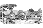 Ranch House Plan Front Image of House - 007D-0117 | House Plans and More