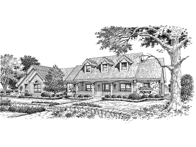 Ranch House Plan Front Image of House - 007D-0118 | House Plans and More