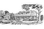 Traditional House Plan Front Image of House - 007D-0118 | House Plans and More