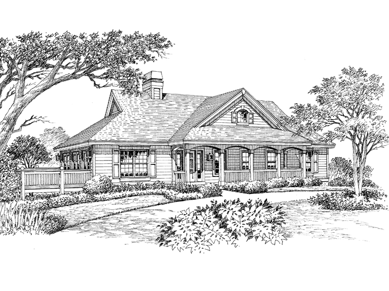 Country House Plan Front Image of House - 007D-0119 | House Plans and More