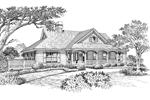 Ranch House Plan Front Image of House - 007D-0119 | House Plans and More