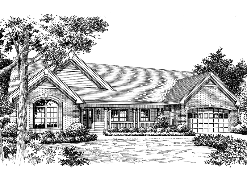 Ranch House Plan Front Image of House - 007D-0120 | House Plans and More