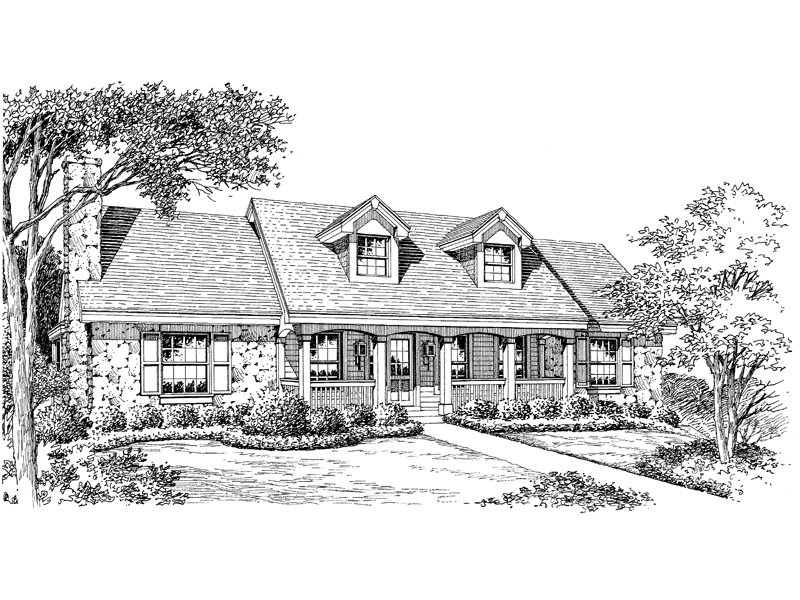 Cape Cod and New England Plan Front Image of House - 007D-0121 | House Plans and More