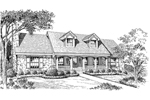 Cabin and Cottage Plan Front Image of House - 007D-0121 | House Plans and More