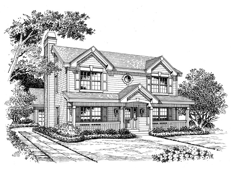 Traditional House Plan Front Image of House - 007D-0122 | House Plans and More