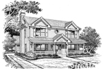 Southern House Plan Front Image of House - 007D-0122 | House Plans and More