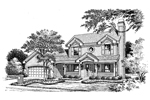 Traditional House Plan Front Image of House - 007D-0123 | House Plans and More