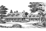 Cape Cod and New England Plan Front Image of House - 007D-0124 | House Plans and More