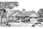 Ranch House Plan Front Image of House - 007D-0125 | House Plans and More