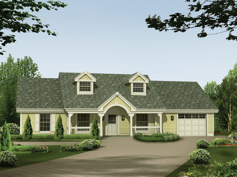 Ranch House Plan Front of Home 007D-0126