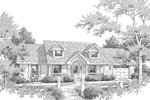 Cape Cod and New England Plan Front Image of House - 007D-0126 | House Plans and More