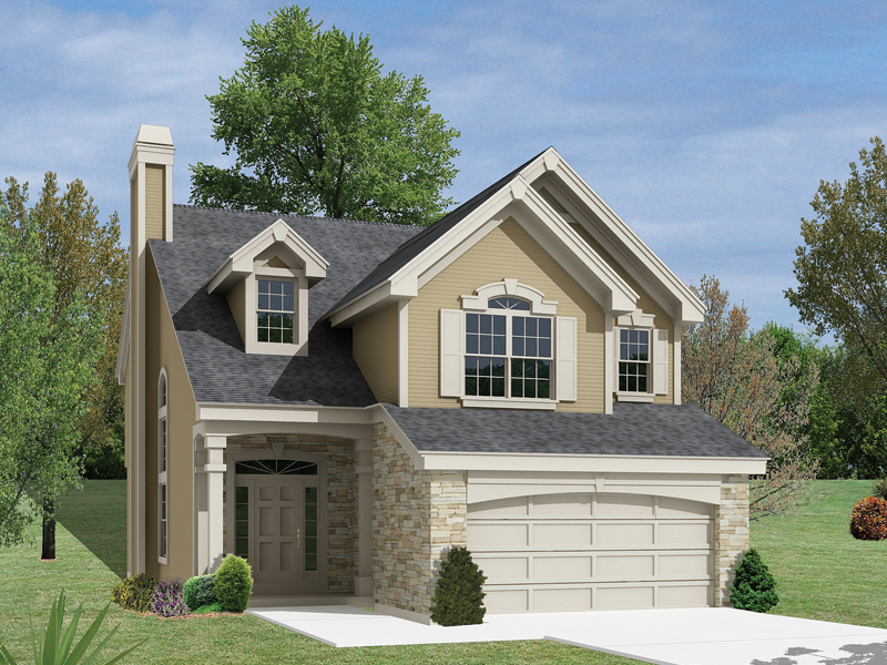 Northhampton Narrow Lot Home Plan 007D 0127
