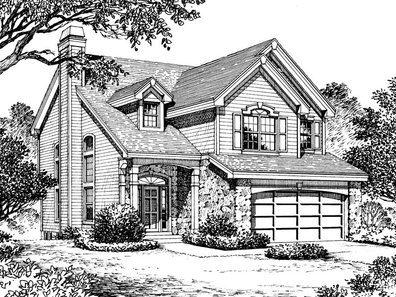 Traditional House Plan Front Image of House - 007D-0127 | House Plans and More