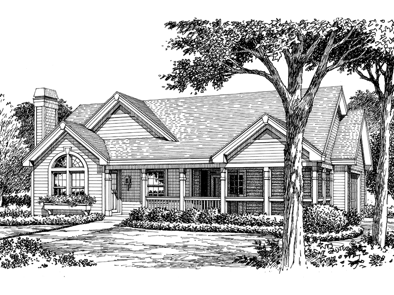 Country House Plan Front Image of House - 007D-0128 | House Plans and More