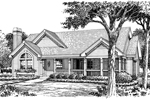 Ranch House Plan Front Image of House - 007D-0128 | House Plans and More