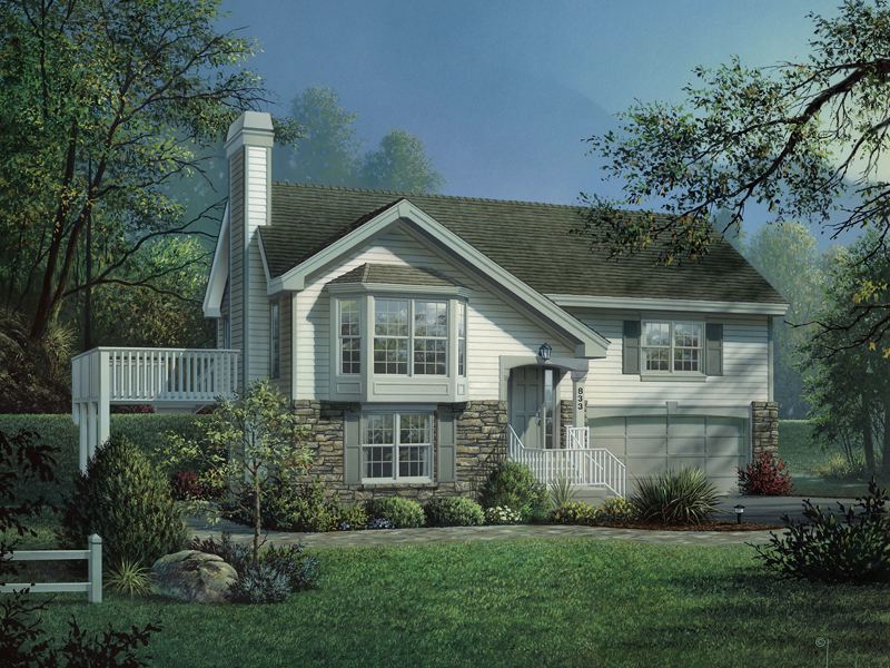 Country House Plan Front of Home 007D-0129