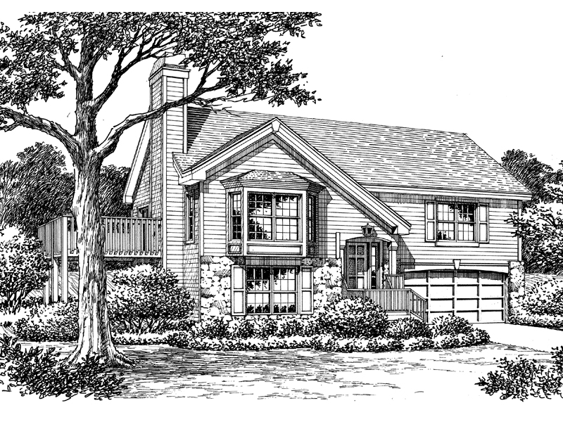 Traditional House Plan Front Image of House 007D-0129