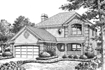 Traditional House Plan Front Image of House - 007D-0130 | House Plans and More