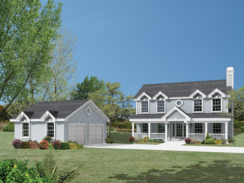 Country House Plan Front of Home 007D-0131
