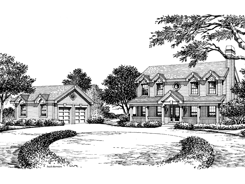 Georgian House Plan Front Image of House - 007D-0131 | House Plans and More